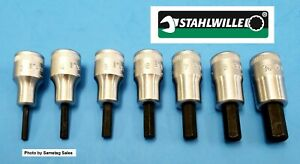 Stahlwille Germany Type 49 Hex Bits 3 8 Dr Set Of 7 Bits 3 4 5 6 8 10mm