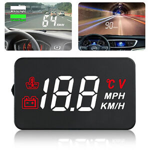 3 5 Universal Obd2 Obdii Car Hud Head Up Display Auto Overspeed Warning System