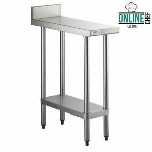 New 30 X 12 Stainless Steel Equipment Filler Prep Work Table Stand Backsplash