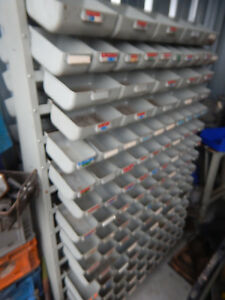 Service Parts Systems Steel Hardware Fastener Parts Bins Rack Double Sided