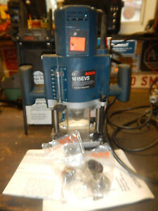 Usa Made Bosch Plunge Router W Edge Guide Micro Adjust Knob Collets Box 1615evs