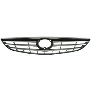 Grille For 2005 2006 Toyota Camry Chrome Shell W Silver Insert Plastic
