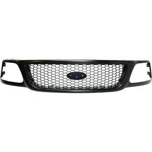 Grille For 97 2004 Ford F 150 97 99 F 250 Primed Honeycomb Insert Plastic