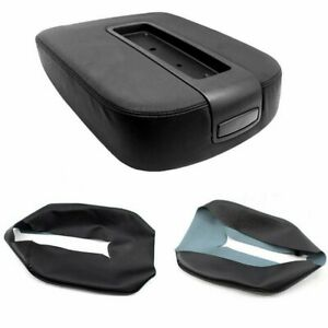 Leather Console Lid Armrest Cover For 07 13 Chevy Tahoe Suburban Yukon Silverado
