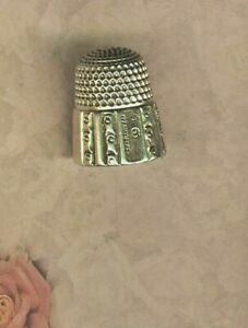 Antique Size 9 Sterling Simons Bros Thimble Circa 1890 S