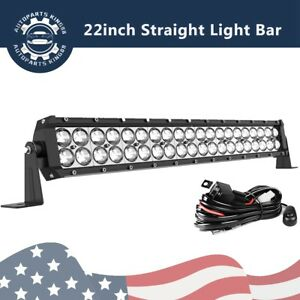 22 inch 120w Spot Led Light Bar Offroad Driving Bumper Atv Suv Boat 20 Wiring