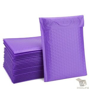 Poly 1 7 25 x12 Purple Bubble Mailers Padded Envelopes Bags Recycle 25 To 2000