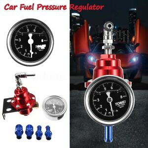 Adjustable Universal Auto Car Fuel Pressure Regulator With 160psi Oil Gauge Kit