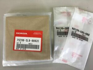 New Jdm Genuine Honda Nsx Front Emblem Budge Na1 Na2 Acura White Nut Set Japan