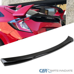 Fits Honda 16 19 Civic X Hatchback 5dr Painted Gloss Black Rear Spoiler Wing