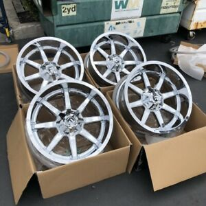 Used Set Fuel Maverick D536 22x10 6x135 6x5 5 Et 24 Chrome Wheels Rims