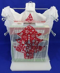 Holiday Christmas Tree Plastic T shirt Shopping Bags Handles 11 25 X 6 X 21