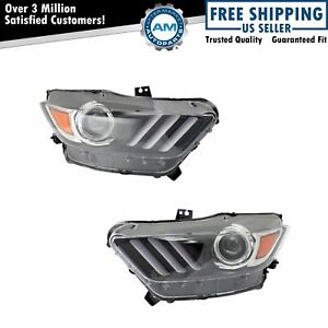 Hid Headlight Lamp Assembly Lh Rh Kit Pair Set Of 2 For Ford Mustang Brand New