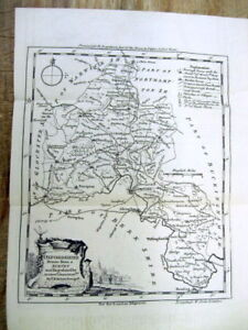 1749 News Magazine Wdetailled Map Long Text Description Of Oxfordshire England