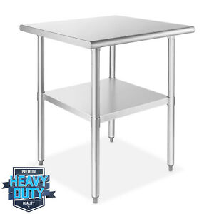 Stainless Steel 24 X 24 Nsf Commercial Kitchen Work Food Prep Table