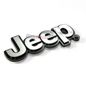 Jeep Chrome Abs 3d Emblem badge nameplate Letters For Front Hood Or Rear Trunk