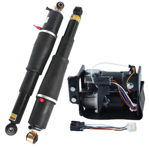 Air Suspension Shocks And Air Compressor Pair Fits Escalade Suburban Tahoe Yukon