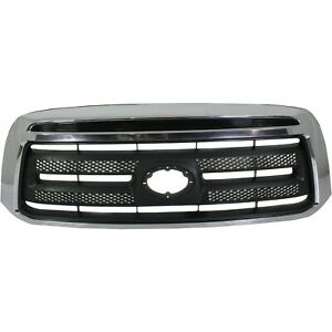 Grille For 2010 2013 Toyota Tundra Chrome Shell W Textured Black Insert Plastic