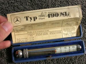 Original Mb 190 Sl Tire Gauge Vintage Mercedes Tool Box Tyre Accessory Messko
