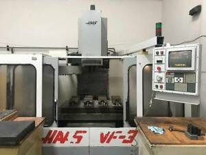 Haas Vf 3 Cnc Vertical Machining Center Vmc Runs Good With Tooling Vf3