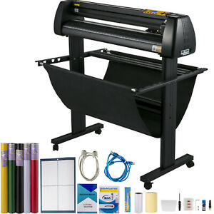 34 Cutter Vinyl Cutter Plotter Sign Cutting Machine W software Supplies
