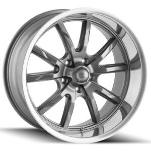 Staggered Ridler 650 Front 18x8 Rear 18x9 5 5x4 75 0mm Gunmetal Wheels Rims