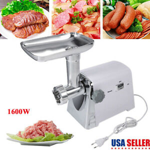 Home Commercial Meat Grinder Electric Mincer Sausage Filler Maker 1600w Tool Kit