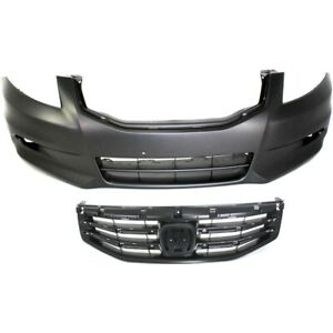 Bumper Cover Kit For 2011 2012 Honda Accord Front 2pc