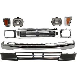 Bumper Kit For 92 95 Toyota Pickup Front 4wd 1 piece Type 9pc