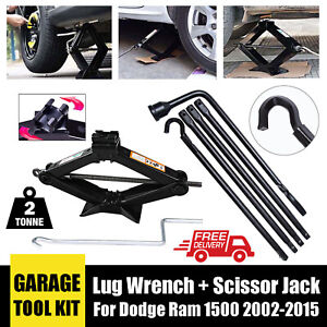 Tire Accessories Lug Wrench 2 Ton Scissor Jack For Dodge Ram 1500 2005 2012 Us