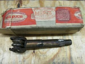 Nos Mopar Steering Sector Shaft 1941 Plymouth 867533 With Original Box