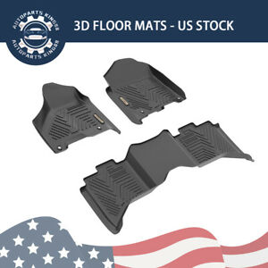 Floor Mats Liners For 2012 2018 Dodge Ram 1500 2500 3500 Crew Cab All Weather