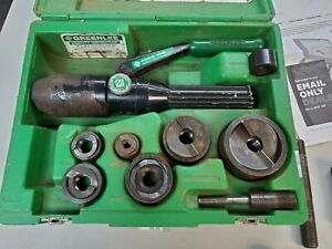 Greenlee 7806sb Hydraulic Punch Set Driver Knockout Tool Kit 1 2 2