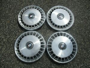 Factory 1986 To 1995 Buick Century 14 Inch Metal Hubcaps Wheel Covers Set