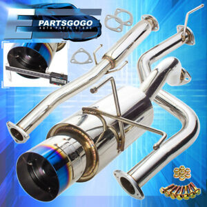 For 96 00 Honda Civic Hatchback 3 Performance Burn Tip Muffler Catback Exhaust