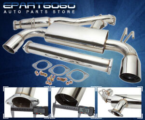 For 08 14 Mitsubishi Lancer Evolution Evo 10 Dual 4 Tip Catback Exhaust System
