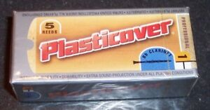Rico Plasticover Bb Clarinet Reeds  Strength 1  5-pack New in Sealed Box