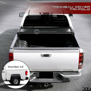 For 2014 2018 Chevy Silverado gmc Sierra 5 8 Ft Bed Tri fold Soft Tonneau Cover