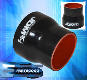 Silicone 2 5 To 3 Reducer Coupler Hose Pipe Racing Intake Black Red 3 Ply Gto