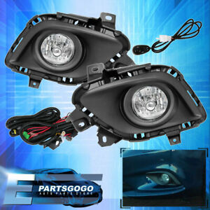 For 13 14 15 Mazda 6 Lens Fog Lights Driving Lamps Wiring Harness Switch Kit
