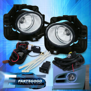For 07 08 09 Nissan Altima Clear Lens Front Bumper Driving Fog Lights W Switch
