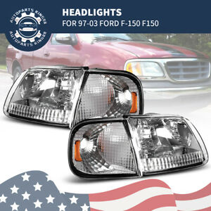 For 1997 2003 Ford F 150 F150 Expedition Headlights Corner Lights Signal Lamps