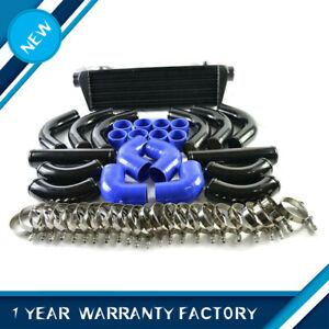 12pcs 28 X7 X2 5 Blue Coupler Black Piping Intercooler Kit T Bolt Clamps