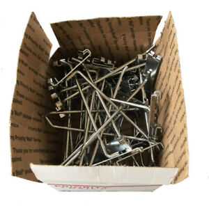 8 Wire Grid Wall Hooks Chrome Box Of 40