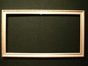 Vintage Wood Frame Antique Silver And Blush Painted Accents