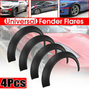 Universal 4pcs 60mm 80mm Fender Flares Body Kit Over Wide Body Wheel Arches