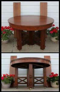 Massive Pegged Stickley Limbert Roycroft 1899 Choate Hollister Mission Oak Table