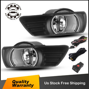 For 2007 2008 2009 Toyota Camry Clear Fog Light Driving Bumper Lamps W Bulbs L R