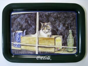 Coca Cola ® Tray - Cat In Window - Jeanne Mack Signature 1994 - Large Tray - New