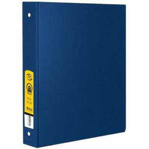 Bazic 4114 1 Blue 3 ring Binder W 2 pockets Pack Of 12